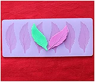 S.Han Silicone Long Leaf Garnishing Mould Chocolate Sheet Cake Decorating Tool Baking bakeware