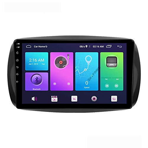 Android 10.0 Car Stereo 2 DIN Head Unit para Medsas Benz Smart Fortwo 2015-2018 Navegación GPS Pantalla táctil de 9 Pulgadas Reproductor Multimedia MP5 Receptor de Video y Radio con 4G WiFi DSP