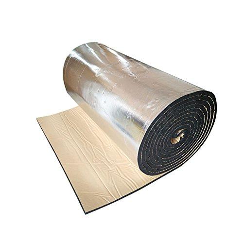 車用断熱マット 140×100CM 断熱マット ドア断熱 アルミ箔 フォーム シルバー 熱反射 吸音 エンジン用 遮音材料 断熱 防音材料(厚さ10mm)
