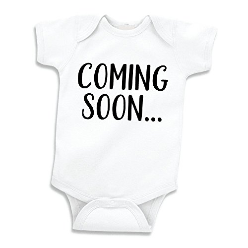 Bump and Beyond Designs Surprise Pregnancy Announcement Grandparents Coming Soon (White 0-3 Months)