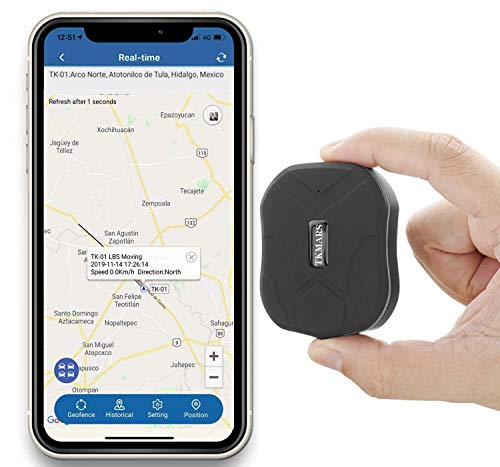 Mini GPS Tracker, localizador GPS en tiempo real localizadores GPS con fuerte imán, alarma oculta, alarma antirrobo, alarma SOS, motor de vibración, IP65, impermeable para Android e iOS TK905