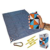Outdoor Picnic Blanket - Compact, Lightweight, Sand Proof Pocket...