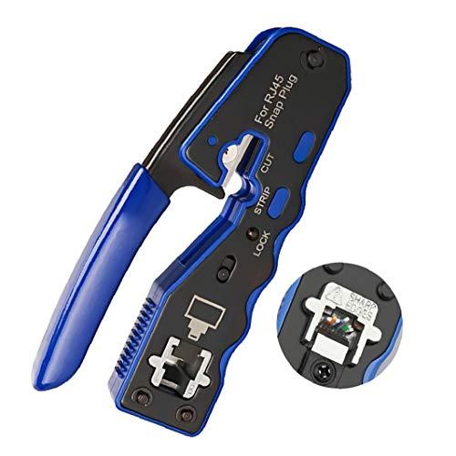 DierCosy Tools Herramienta Crimpadora para Conectores RJ45 8P Crystal Alambre alicates Que Prensa Fin Paso a través del Separador de Cable Crimper