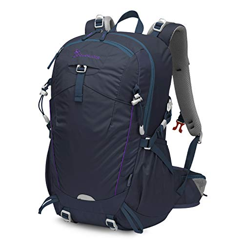 MOUNTAINTOP 35L Unisex Hiking Backpack with Rain Cover (35L-DarkBlue)