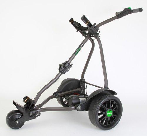 GreenHill - Elektro-Golfcarts in schwarz - graphit, Größe 18 hole battery