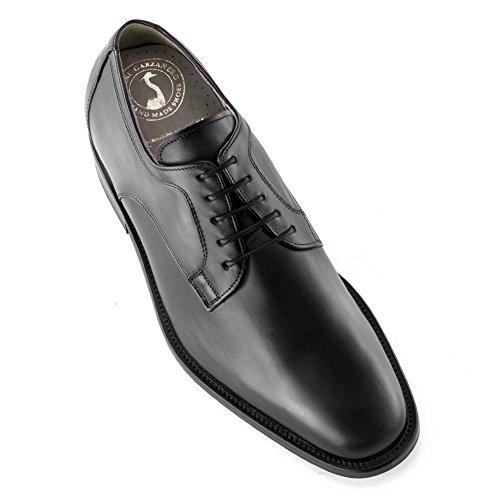 Masaltos Schuhe Herrenschuhe Die auf Unsichtbare Weise Ihre Körpergrösse bis zu 7 cm Erhöhen. Herrenschuhe mit Verstecktem Absatz. Modell Boston Schwarz 39
