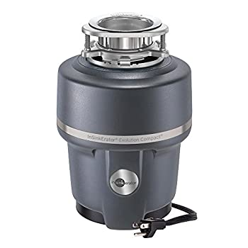 Insinkerator COMPACTCORD Evolution Compact Household Garbage Disposer with Cord 3/4 Horsepower Grey