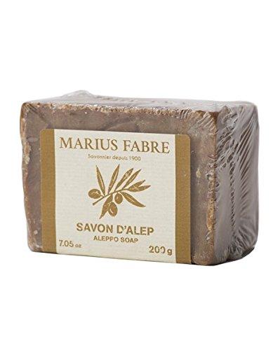 Marius Fabre 'Le Lavoir': 2 Stück handgeschöpfte Aleppo-Seife mit 75,5 % Olivenöl und 12,5 % Lorbeeröl