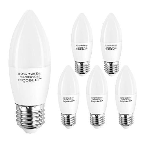 Aigostar - Bombilla LED E27 7W (Equivalente a 40W), Luz Blan