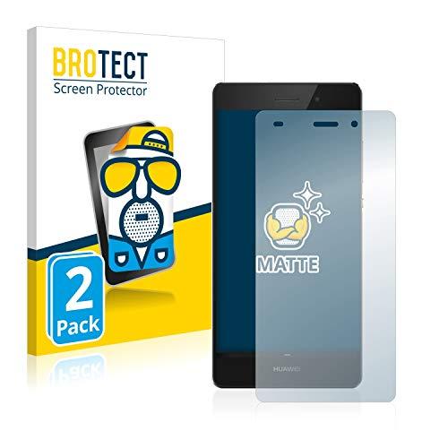 BROTECT 2X Entspiegelungs-Schutzfolie kompatibel mit Huawei P8 Lite 2015/2016 Bildschirmschutz-Folie Matt, Anti-Reflex, Anti-Fingerprint