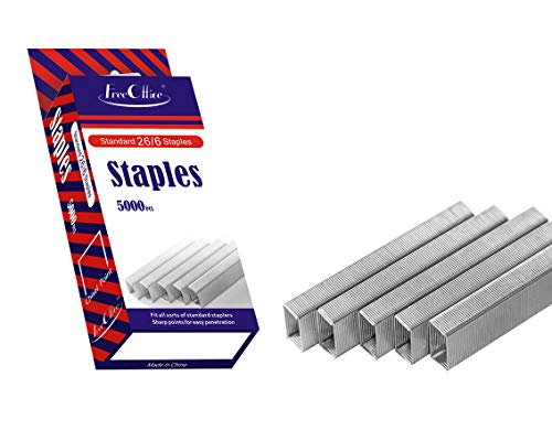 Standard Staples 26/6 1/4In Leg Length Free Office (Silver, 5000 Count)
