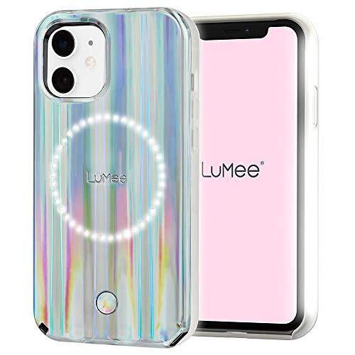 LuMee Halo by Paris Hilton – Holographic – Custodia per iPhone 12 Mini (5G) – Illuminazione per selfie e posteriore – 5,4 pollici – Holographic by Paris