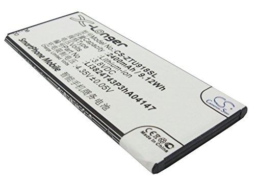 CS-ZTU918SL Batería 2400mAh Compatible con [ZTE] Blade L3 Plus, N9180, N918ST, U9180, V5, V5s, V9180 sustituye Li3821T43P3hA04147, Li3824T43P3hA04147