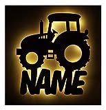 Schlummerlicht I Nachtlicht Traktor personalisiert mit Namen für Jungs Junge Männer Mann Kinder...