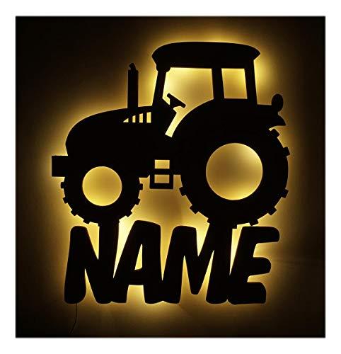 Schlummerlicht I Nachtlicht Traktor Lampe personalisiert mit Namen für Jungs Junge Männer Mann Kinder Geschenke
