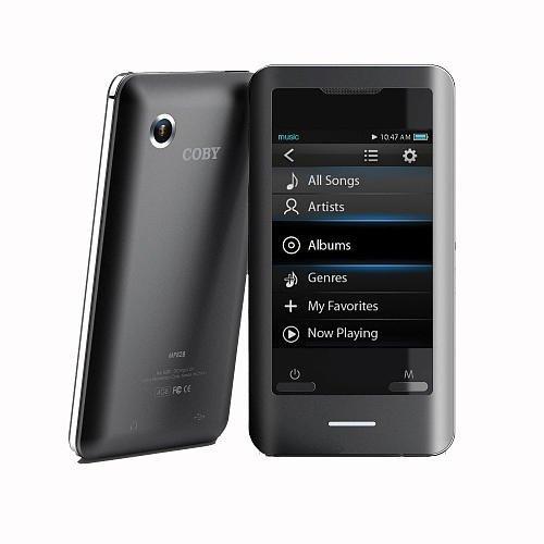 COBY MP828-8G Black MP3 2.8 Touchscreen Video Camera Speaker