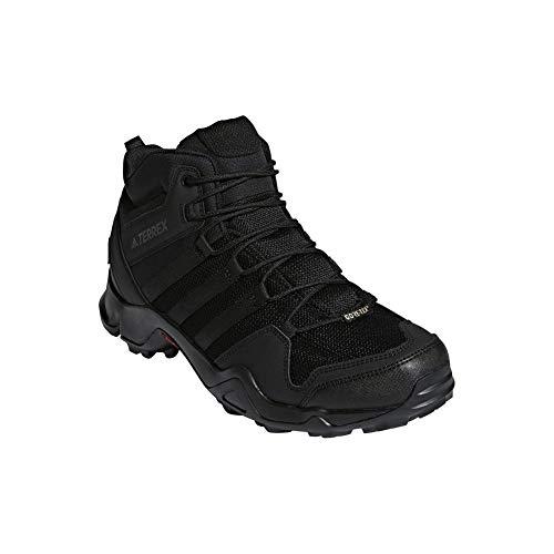 adidas Men's Terrex AX2R Mid GTX Hiking Shoe - Black/Black/Black 10