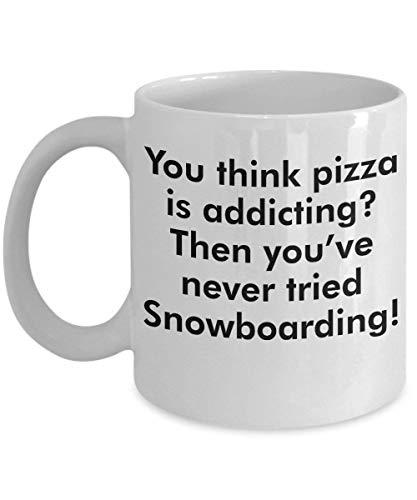 Snowboarden mok – slimme en dom cadeau idee - een komische en geestig keramische koffiebeker, altijd een dramatische surpris - 11 oz