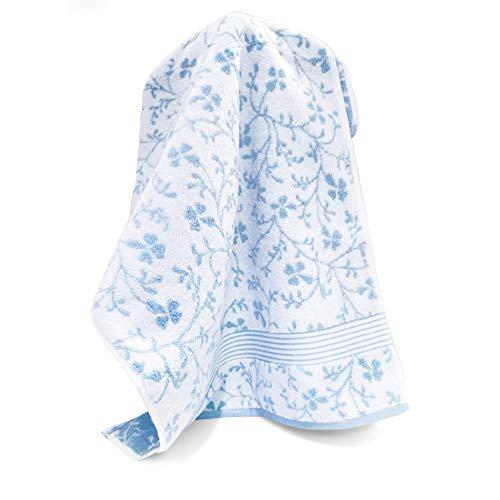 Handtuch, 50x 100cm Vintage Floral Blau 550g/m2