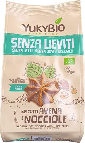 1x Yukybio Biscotti biologici Senza Lieviti Avena e Nocciole 200g