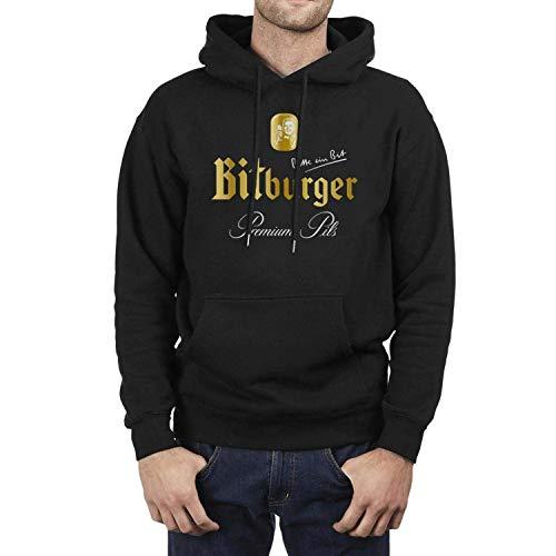 NALLK-7A Langarm Fleece Bitburger-Bier-Herren Pullover Hoodie