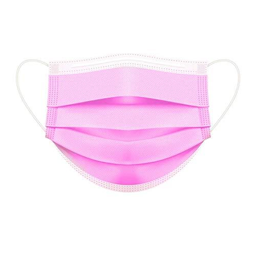 Parama 50 Stück Op Masken für Kinder Rosa 100% Made in Italy CE Zertifiziert EN14683 Type II BFE ≥ 99% Medizinischer Mundschutz Einwegmasken Kinder Mund Nasen Schutz