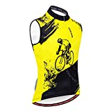 yotijar Chaleco Ciclismo Sin Mangas Chaleco Transpirable Montar Reflectante - Amarillo, SG