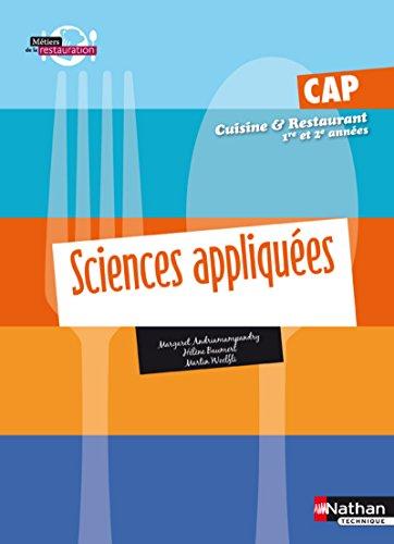 Sciences appliquées - CAP Cuisine et Restaurant Livre de l'élève