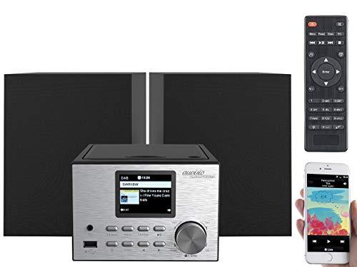 auvisio Internetradio: Micro-Stereoanlage mit Webradio, DAB+, FM, CD, Bluetooth, USB, 60 Watt (Stereoanlage mit Internetradio)
