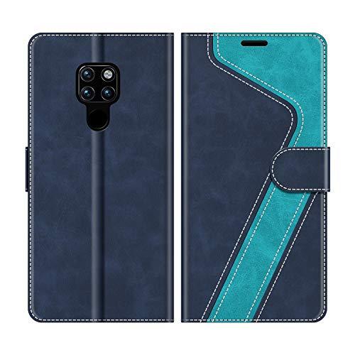 MOBESV Handyhülle für Huawei Mate 20 Hülle Leder, Huawei Mate20 Klapphülle Handytasche Hülle für Huawei Mate 20 / Huawei Mate20 Handy Hüllen, Modisch Blau