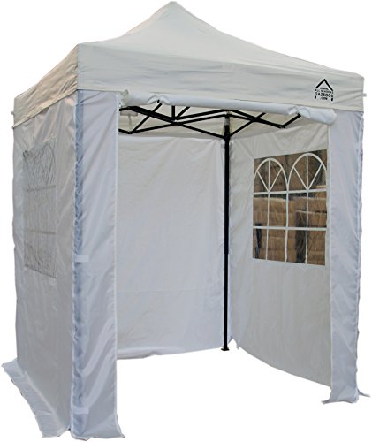 All Seasons Gazebos, Choice Of 5 Colours, 2x2m Heavy Duty, Fully Waterproof, Premium Pop Up Gazebo With 4 x Zip Up Side Panels, Carry Bag With Wheels and 4 x leg weight bags (White)