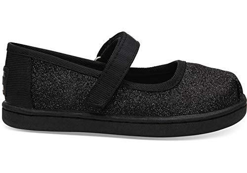 TOMS Unisex-Kinder Tiny Mary Jane Slip On Sneaker, Schwarz (Black 000), 23.5 EU