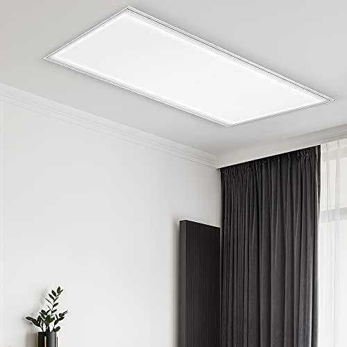 CS Light – Premium LED Panel 120x30 cm – [40W/230V] Neutralweiß [4000K] – LED Deckenleuchte flach für Büro, Wohnzimmer, Flur & Küche – Lebensdauer [35.000 Stunden] - Energieklasse A+