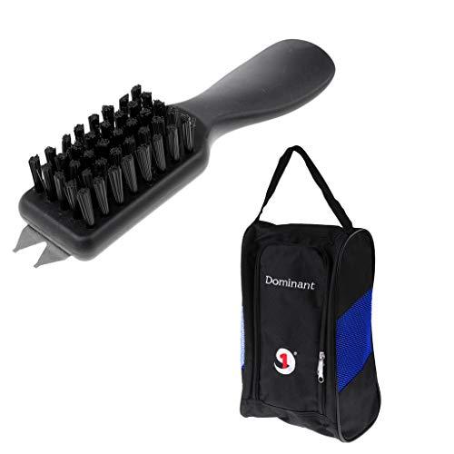 Sharplace Cepillo Limpiador de Zapatos de Golf con Llave para Calzador Y Estuche Portador