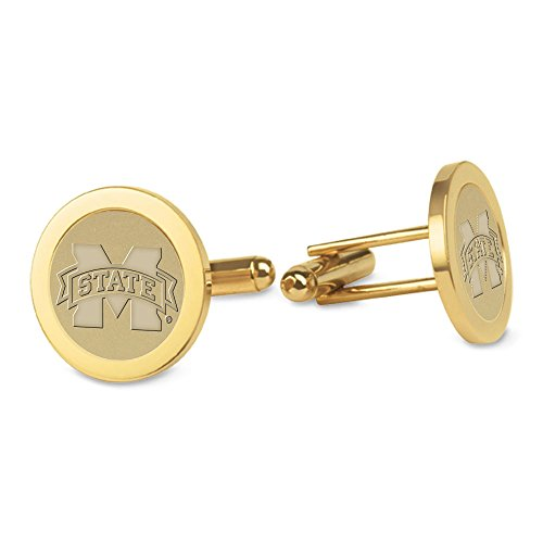 Mississippi State Bulldogs NCAA Logo'd Executive Cufflinks w/ Jewelry Box