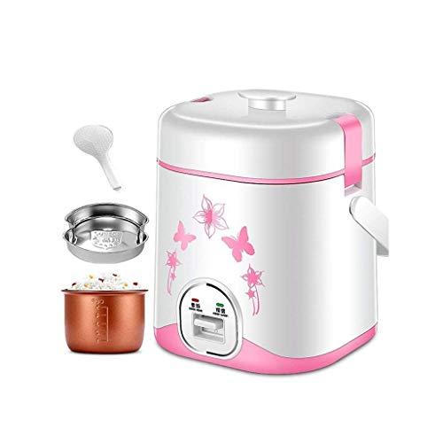 Kleiner Elektroherd, Hot Pot mit Edelstahl gesunden Innentopf, Nudeln kochen und Wasser kochen Eier leicht (Farbe: Pink) (Farbe: Schwarz) lalay (Color : Pink)