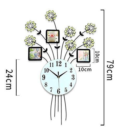 ZWMM Wanduhr Vintage, Wall Clock Digital Modern Wanduhr Lautlos, DIY Rahmenuhr, Fotorahmenuhr Kunststoffkunst Bilderuhr Einzigartige Inneneinrichtung