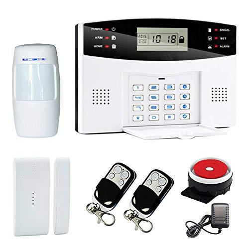 Harwls - Tastiera con schermo LCD Voice Wireless Home GSM Alarm System House Burglar Door Security Systems