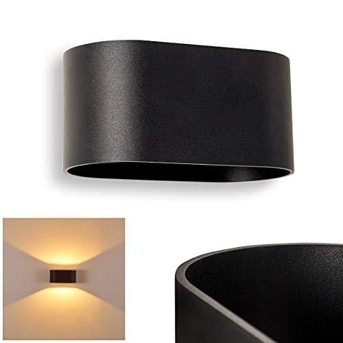 Wandlampe Dapp aus Metall in Schwarz, moderne Wandleuchte mit Lichteffekt, 1 x G9-Fassung, max. 40 Watt, Innenwandleuchte mit Up & Down-Effekt, geeignet für LED Leuchtmittel
