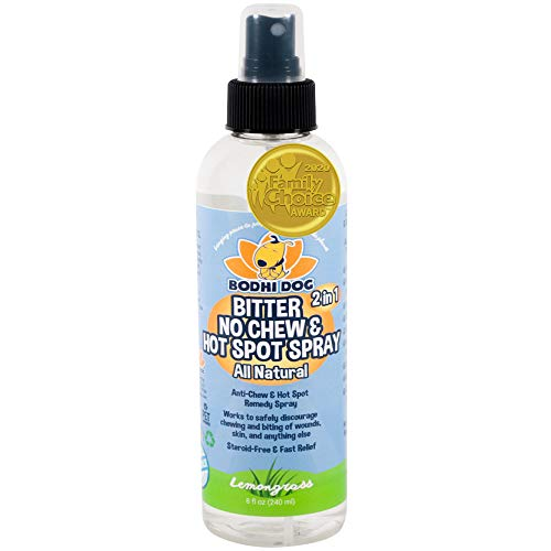 Bodhi Dog New Bitter 2 in 1 No Chew & Hot Spot Spray | All Natural Anti-Chew Remedy | Safe for Skin, Wounds, Anything Else | Made in USA (8oz)