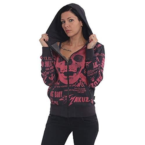 Yakuza Damen Rotting Body Zip Hoodie Kapuzenjacke