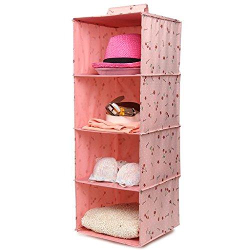 Aufbewahrungstaschen Xuan - Worth Another Rosa Kirsche Muster Kleiderschrank Hang Kleidung Kleiderschrank Dessous Multilayer Schublade Box Stoff Aufbewahrungsbox