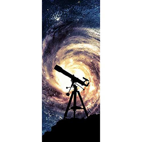 Telescopio Imagen Murales de pared Pegatinas de pared Etiqueta de la puerta Papel pintado Calcomanías Decoración del hogar
