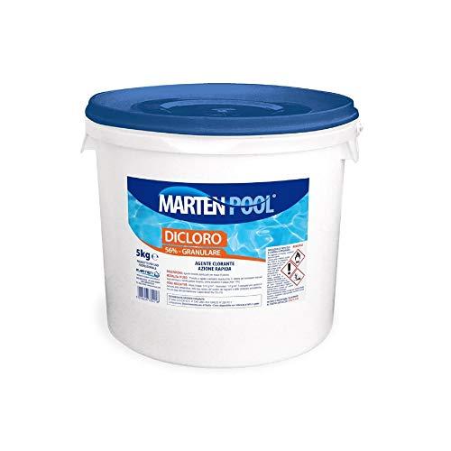 MARTEN Dicloro 56% granulare 5kg | Agente clorante stabilizzato per acque di piscina