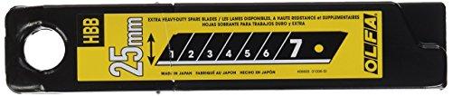 OLFA 25mm Super Heavy Duty Ultra Sharp Black Snap Off Blade (HBB-20B)
