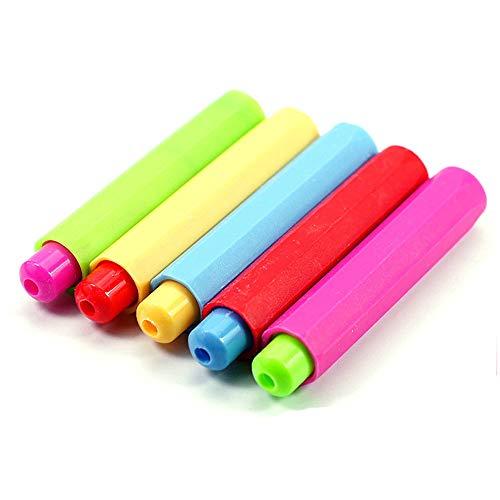 Fliyeong Kreidehalter Kreidehalter aus Kunststoff, für Lehrer, Kinder, Schule, Büro, zufällige Farbe, 4 Stück