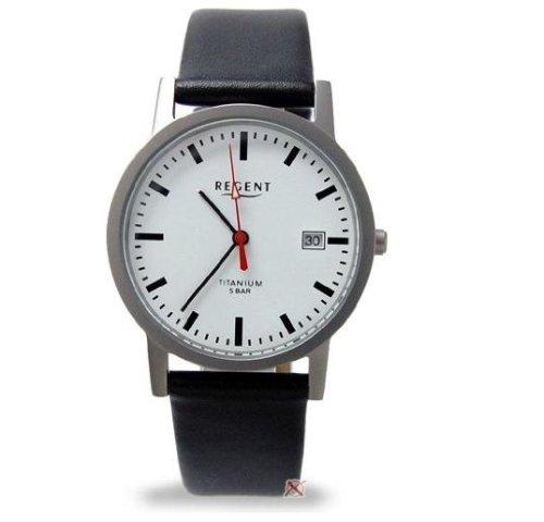 Regent F231–Herren Armbanduhr Farbe Schwarz