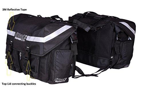 Dirtsack Heavy Denier Ballistic Fabrics Exterior Longranger Pro 24 L Waterproof Saddle Bag (Black)