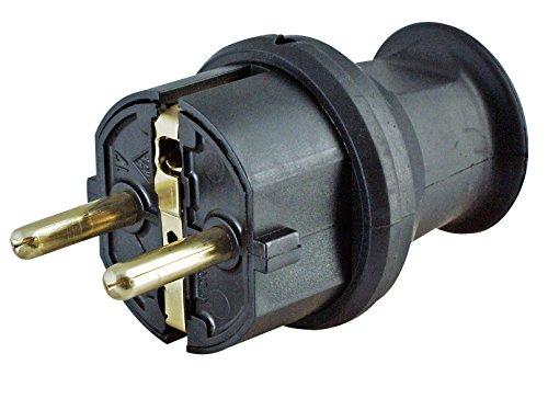 Kopp 179716043 Schutzkontakt-Stecker mit Knickschutz klein schwarz
