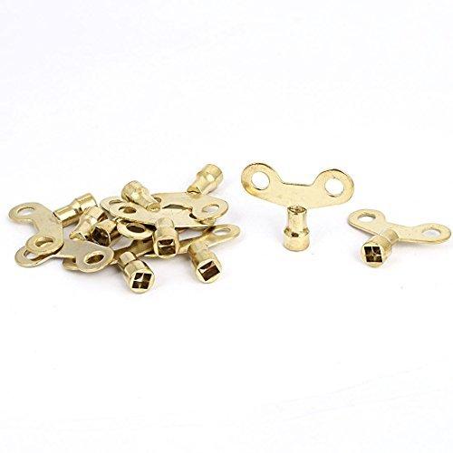 DealMux Square Hole agua del grifo grifo perilla llave del interruptor de 6 mm x 6 mm 10Pcs tono Oro